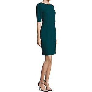 BOSS sheath dress in dark emerald